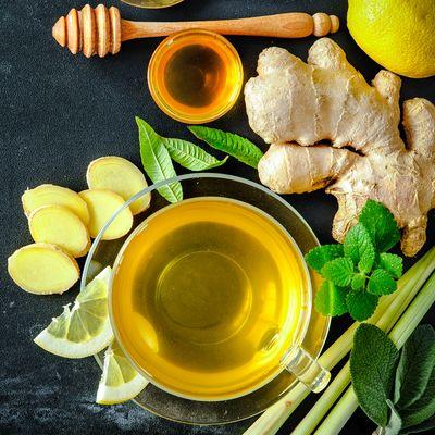 Zutaten-Zitronengrastee