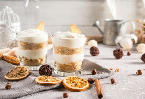 Spekulatius-Joghurt-Nachspeise als veganes Dessert zu Weihnachten